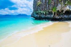Beautiful tropical beach and mountain islands Stock Photo
