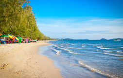 Beautiful tropical  beach Otres in Sihanoukville Royalty Free Stock Images
