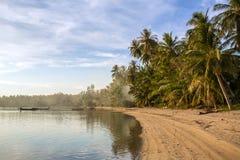 A beautiful tropical beach with palm trees. At Koh Phangan island, Thailand Stock Photo