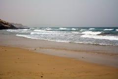 Beautiful tropical beach on paradise Island. Canary Island Fuerteventura Spain. Costa Calma Beach Afternoon shoot Royalty Free Stock Photography