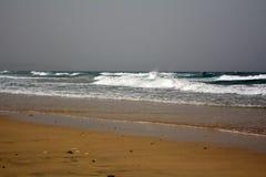 Beautiful tropical beach on paradise Island. Canary Island Fuerteventura Spain. Royalty Free Stock Photos