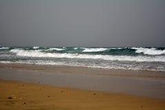 Beautiful tropical beach on paradise Island. Canary Island Fuerteventura Spain. Costa Calma Beach Afternoon shoot Royalty Free Stock Image