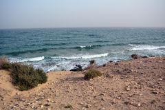Beautiful tropical beach on paradise Island. Canary Island Fuerteventura Spain. Royalty Free Stock Photo