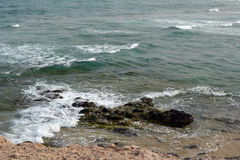 Beautiful tropical beach on paradise Island. Canary Island Fuerteventura Spain. Costa Calma Beach Afternoon shoot Royalty Free Stock Photos