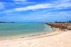 Beautiful tropical beach in Samui island Royalty Free Stock Photo