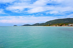 Beautiful tropical beach in Samui island royalty free stock images