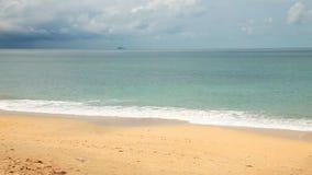 Beautiful tropical beach stock video