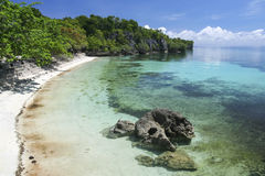 Siquijor island beach concrete terrace philippines Royalty Free Stock Images