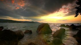 Beautiful tropical beach. Thailand. Koh Samui stock footage