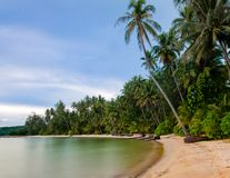 Beautiful tropical beach in Thailand. With long exposure effect Royalty Free Stock Image