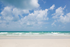 Beautiful tropical beach, turquoise water and white sand Stock Photography