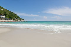 Beautiful tropical beach, turquoise water and white sand. Phangan Island Stock Photo