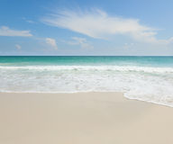 Beautiful tropical beach, turquoise water and white sand Stock Image