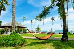 Tropical Beach Resort on the island Stock Photography