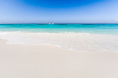 Beautiful tropical beach, white sand and blue sky background wit. H travel yacht boat. Seascape or Landscape at similan island, andaman sea, pacific ocean Stock Photos