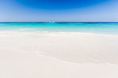 Beautiful tropical beach, white sand and blue sky background wit. H travel yacht boat. Seascape or Landscape at similan island, andaman sea, pacific ocean Royalty Free Stock Photography
