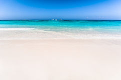Beautiful tropical beach, white sand and blue sky background wit. H travel yacht boat. Seascape or Landscape at similan island, andaman sea, pacific ocean Royalty Free Stock Photos