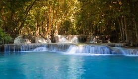 Beautiful tropical blue stream waterfall Royalty Free Stock Image