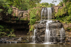 Beautiful tropical Cascades in motion National Park,  Koh Kood Island, Thailand. Royalty Free Stock Photo