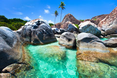 Beautiful tropical coast at Caribbean stock photos