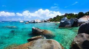 Beautiful tropical coast at Caribbean Stock Photos