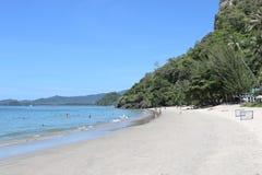 Beautiful tropical coast of Thailand overlooking the beach, azure sea, Krabi. Ao Nang royalty free stock photography