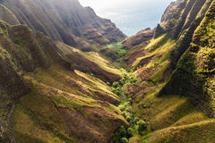 Beautiful Tropical Coastline. Gorgeous Tropical Coastline, Cliffs, and Forest stock image