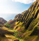 Beautiful Tropical Coastline. Gorgeous Tropical Coastline, Cliffs, and Forest stock images