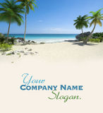 Beautiful tropical deserted beach Stock Images