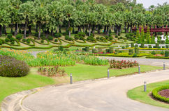 Beautiful tropical garden design in Thailand Stock Images