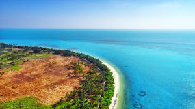Beautiful tropical island from above. Royalty Free Stock Photos