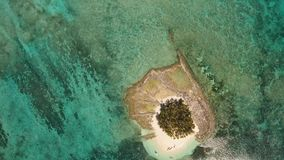Beautiful tropical island with beach. Guyam island, Philippines stock footage