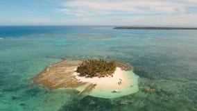Beautiful tropical island with beach. Guyam island, Philippines stock video footage