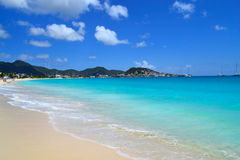 Beautiful, Tropical Island Beach Royalty Free Stock Images