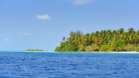 Beautiful tropical island in Maldives Stock Photo