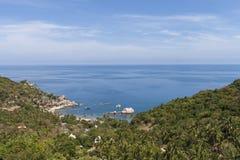 Beautiful tropical island with nice bungalow. Koh Tao island Royalty Free Stock Photo