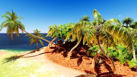 Beautiful tropical island Royalty Free Stock Photo
