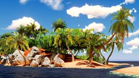 Beautiful tropical island Stock Image