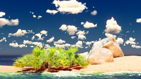 Beautiful tropical island Stock Image