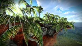 Beautiful tropical island stock video footage