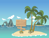 Beautiful tropical island Stock Photos