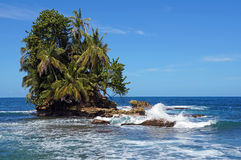 Beautiful tropical islet with lush vegetation Stock Photography