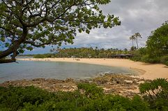 Beautiful tropical Kaanapali Beach in Maui Hawaii Stock Photo