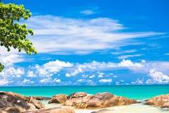 Beautiful tropical Khaolak sandy beach - Thailand Royalty Free Stock Photography