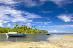 Beautiful tropical lagoon. On the island Gan in Indian Ocean, Maldives Stock Photo