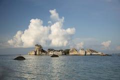 Beautiful tropical landscape, island rocks, sea Royalty Free Stock Photo