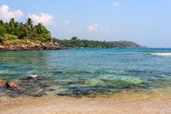 Beautiful tropical landscape royalty free stock photography