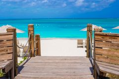 Beautiful tropical landscape on Providenciales Stock Photos