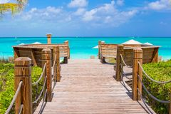 Beautiful tropical landscape on Providenciales Royalty Free Stock Photos