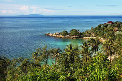 Beautiful tropical landscape in Thailand. Beautiful tropical landscape in Koh Phangan, Thailand Royalty Free Stock Images